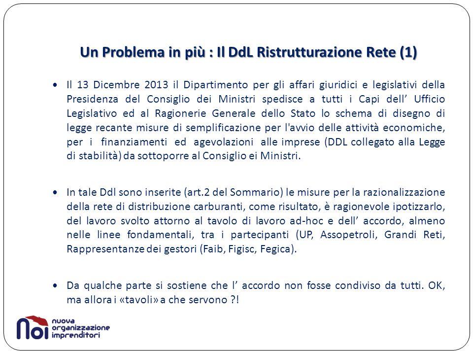 Un Problema in più : Il DdL Ristrutturazione Rete (1)