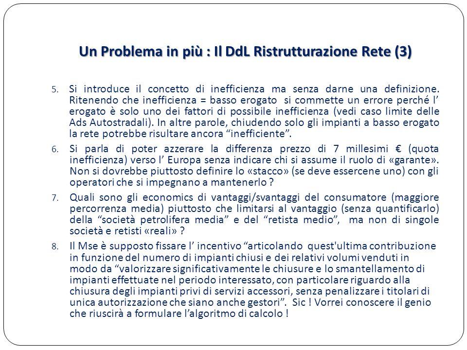 Un Problema in più : Il DdL Ristrutturazione Rete (3)