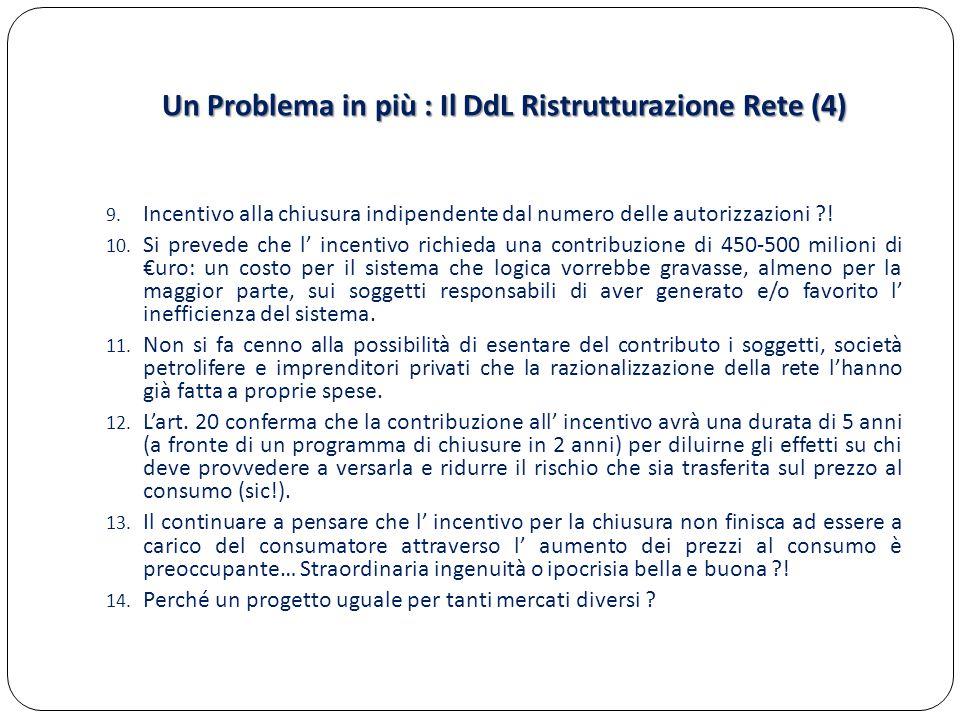 Un Problema in più : Il DdL Ristrutturazione Rete (4)