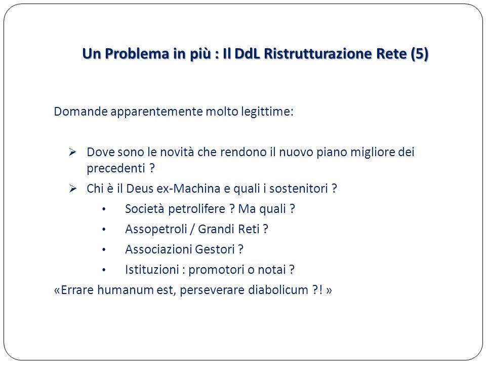 Un Problema in più : Il DdL Ristrutturazione Rete (5)