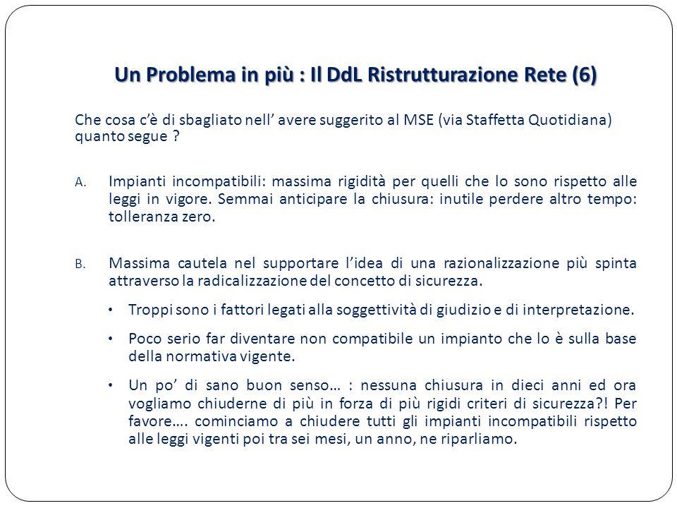 Un Problema in più : Il DdL Ristrutturazione Rete (6)