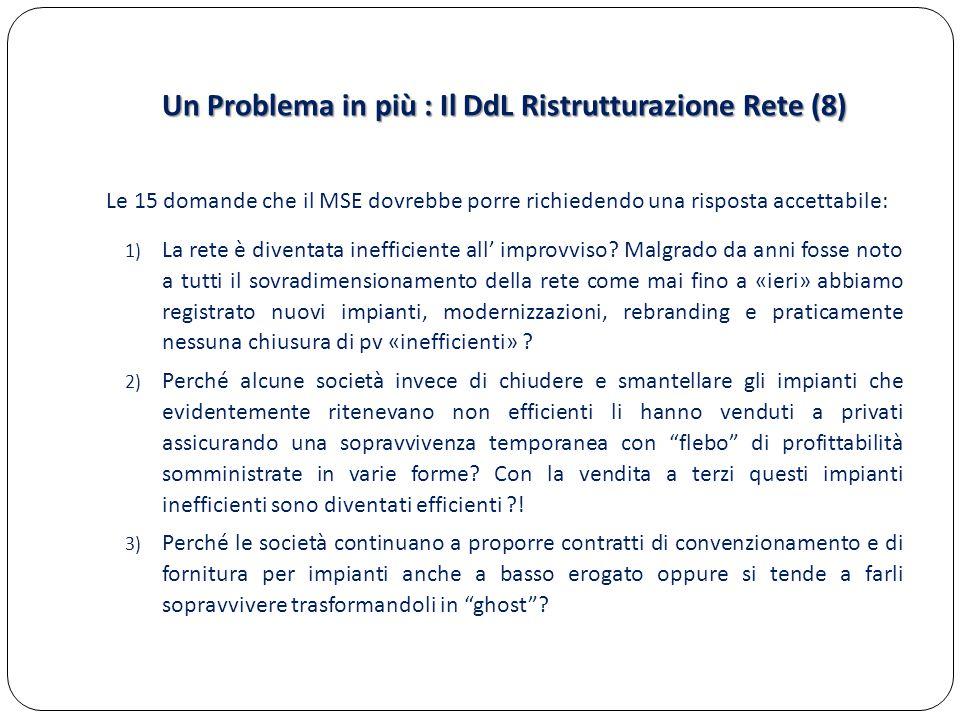 Un Problema in più : Il DdL Ristrutturazione Rete (8)