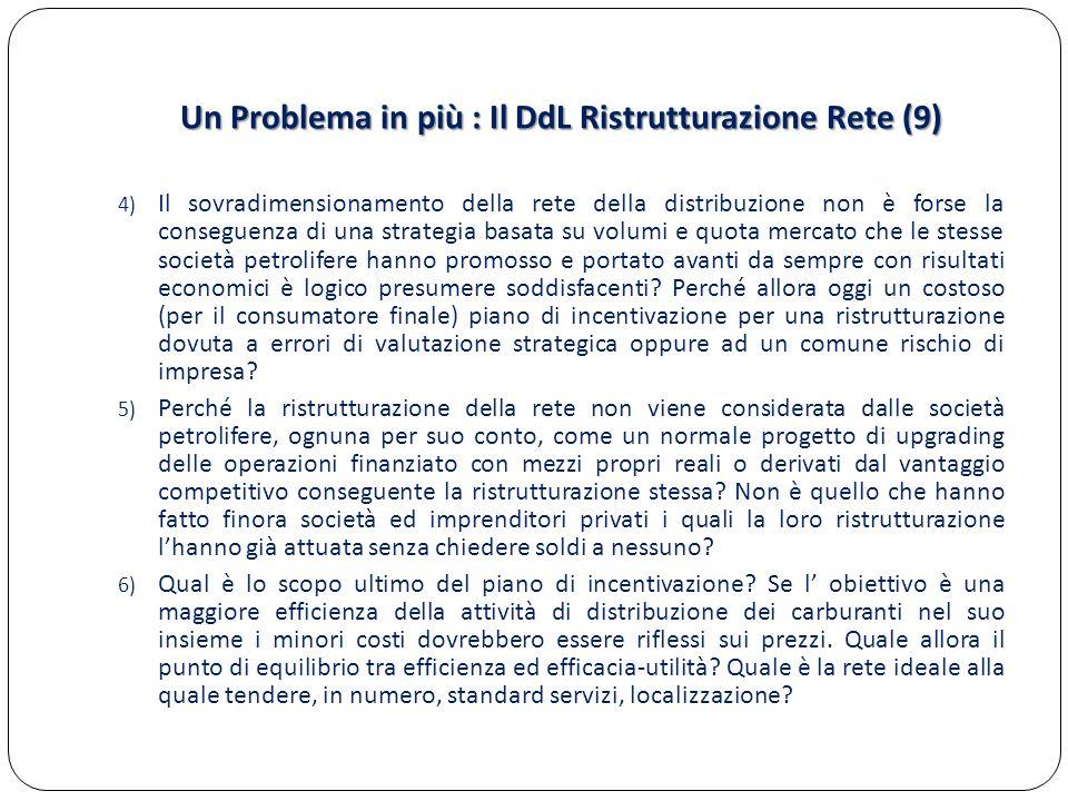 Un Problema in più : Il DdL Ristrutturazione Rete (9)