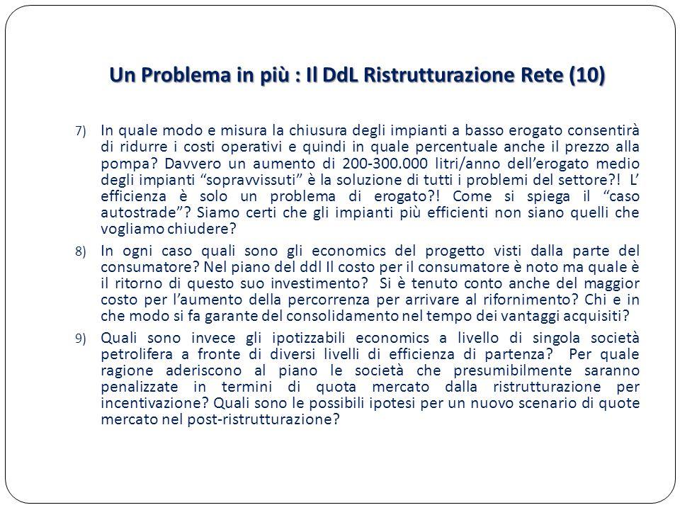 Un Problema in più : Il DdL Ristrutturazione Rete (10)