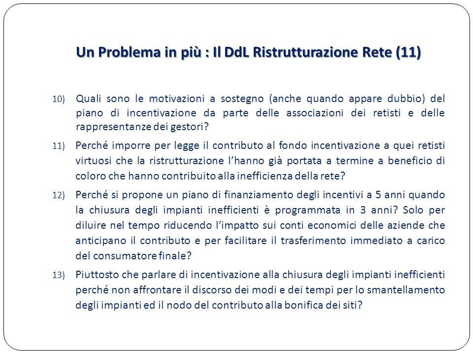 Un Problema in più : Il DdL Ristrutturazione Rete (11)