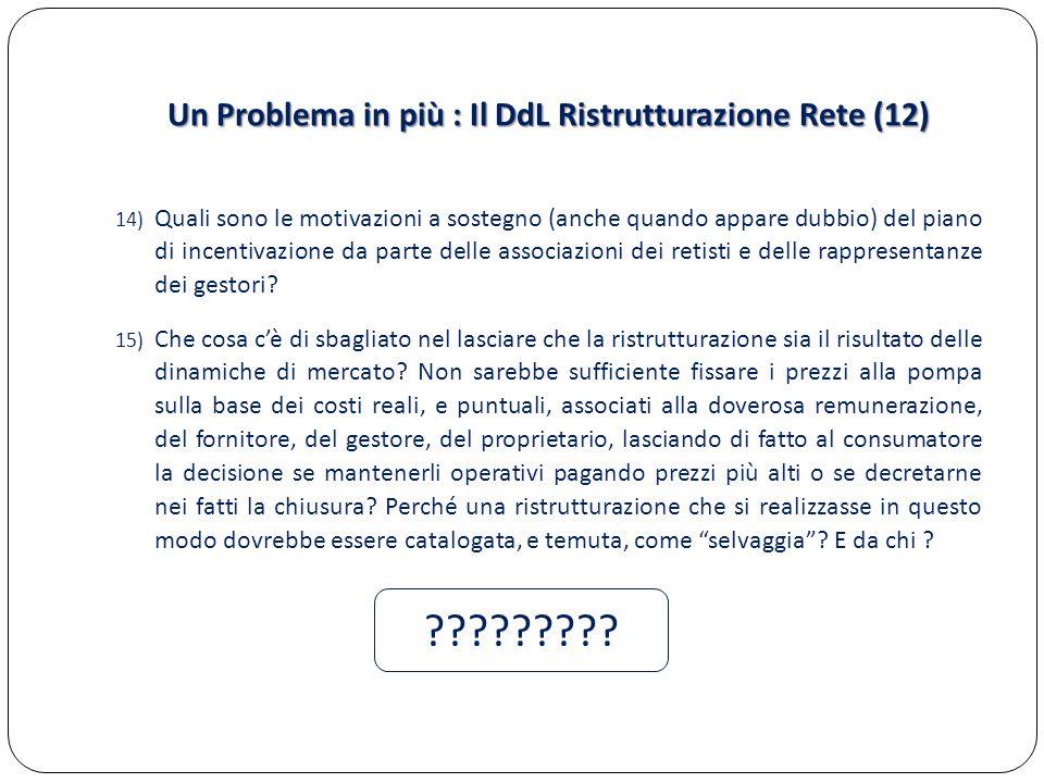 Un Problema in più : Il DdL Ristrutturazione Rete (12)