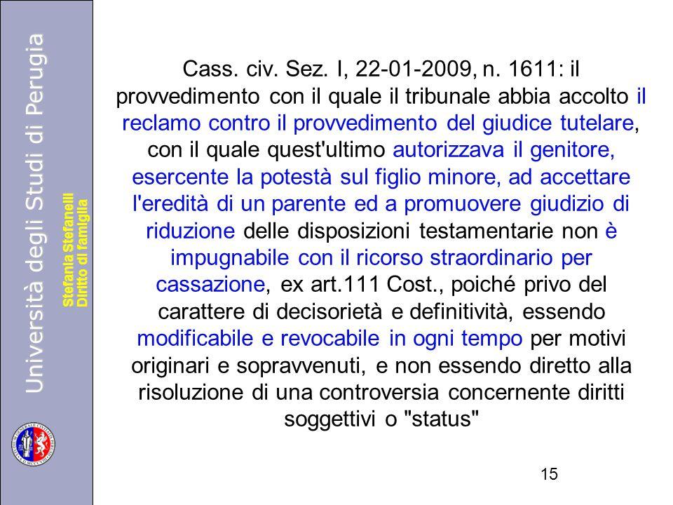 Cass. civ. Sez. I, 22-01-2009, n.