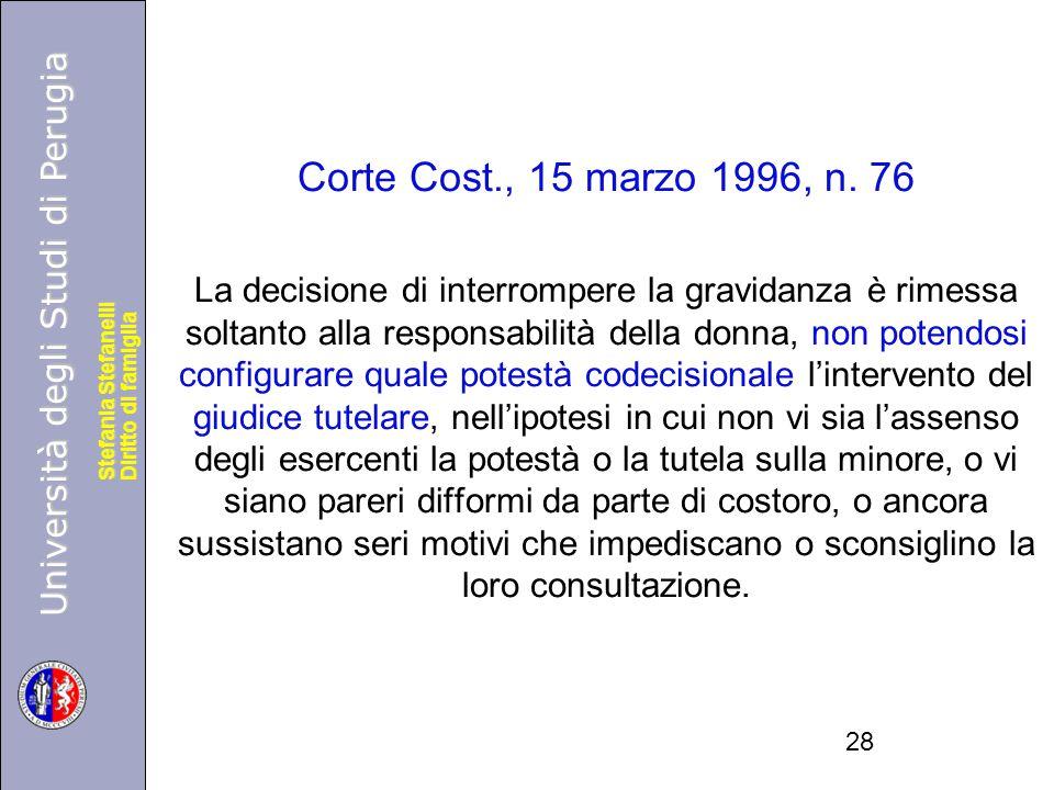 Corte Cost., 15 marzo 1996, n. 76