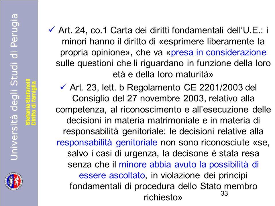 Art. 24, co. 1 Carta dei diritti fondamentali dell'U. E