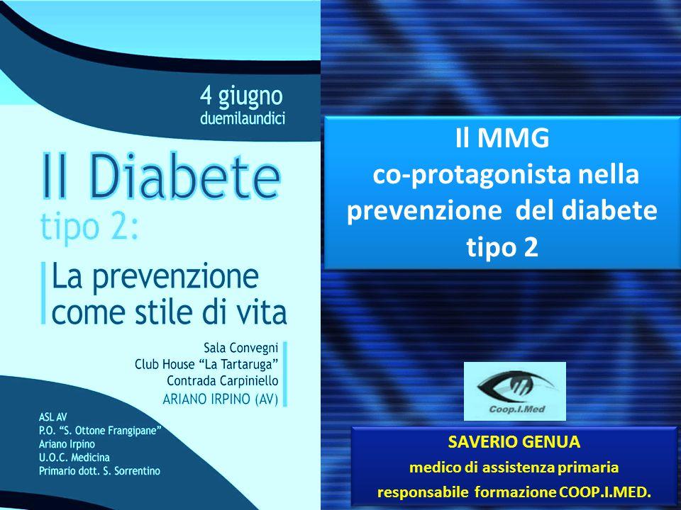 Il MMG co-protagonista nella prevenzione del diabete tipo 2
