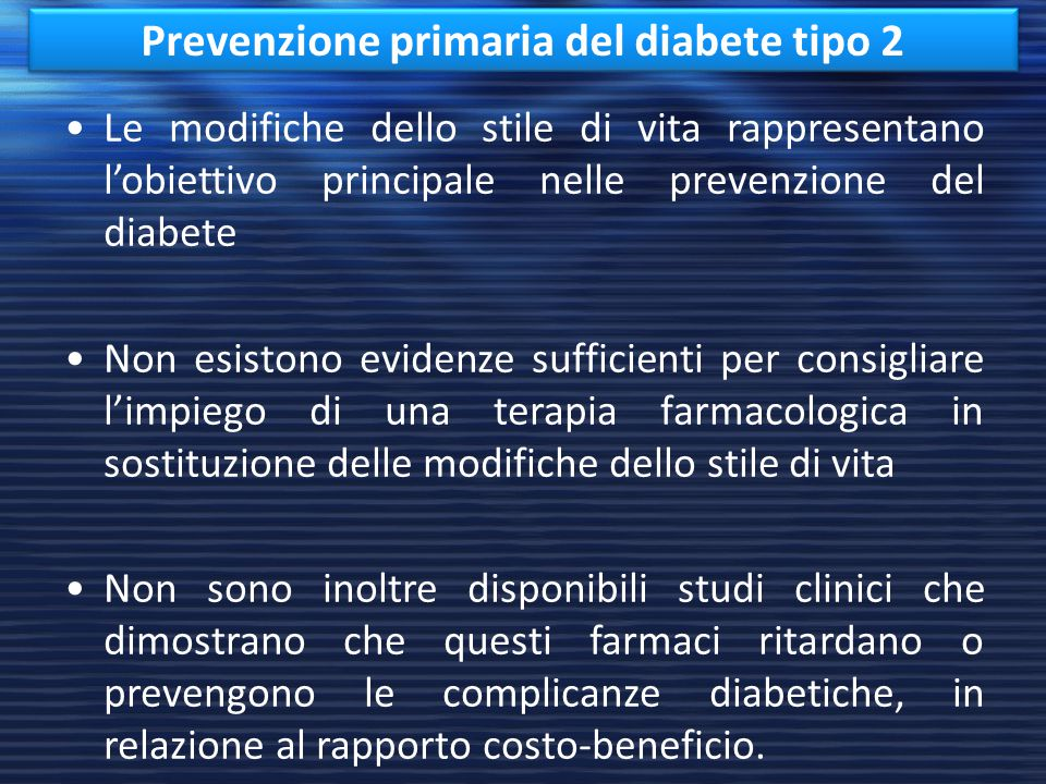 Prevenzione primaria del diabete tipo 2