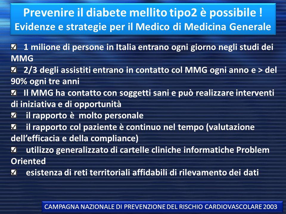 Prevenire il diabete mellito tipo2 è possibile
