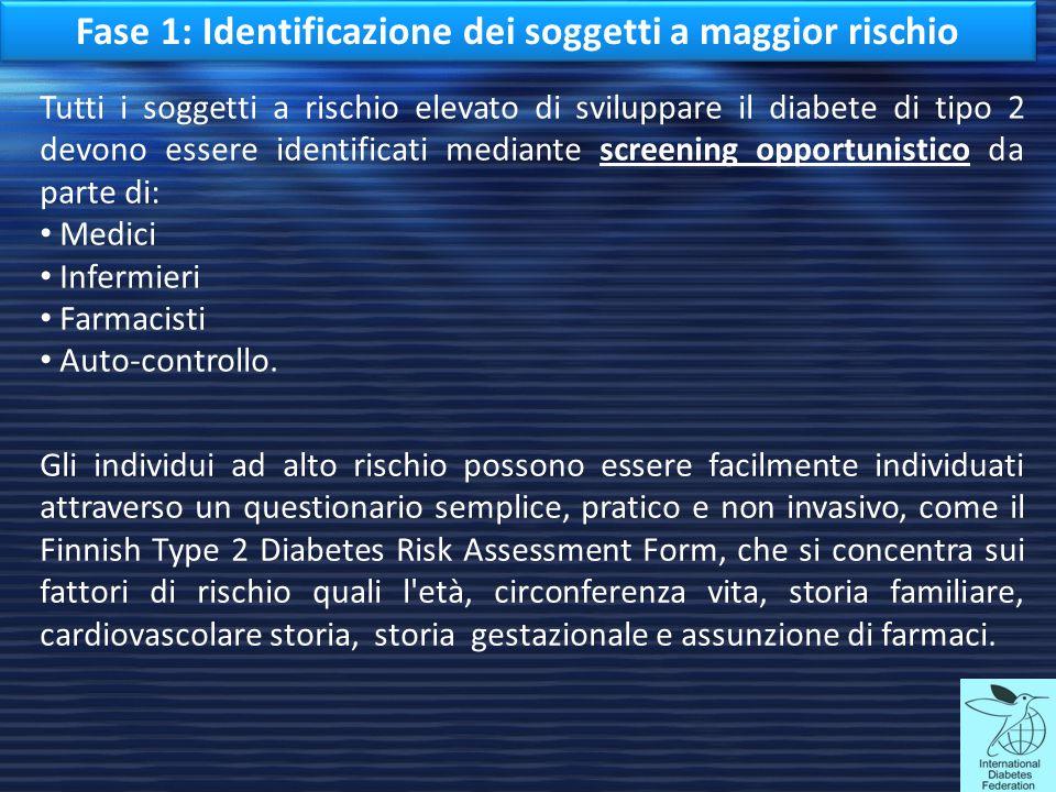 Fase 1: Identificazione dei soggetti a maggior rischio
