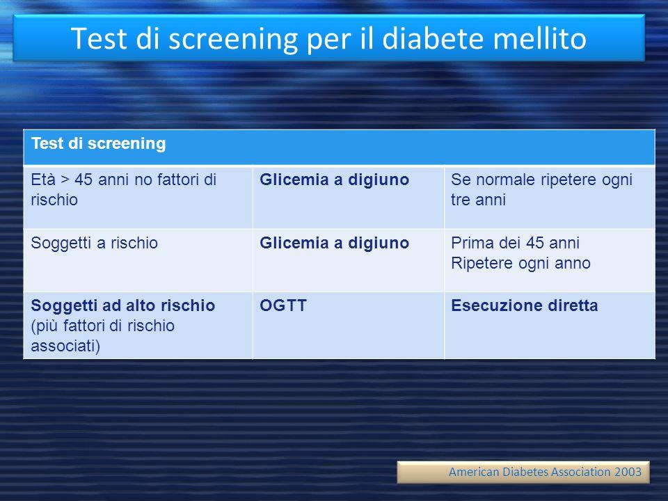 Test di screening per il diabete mellito