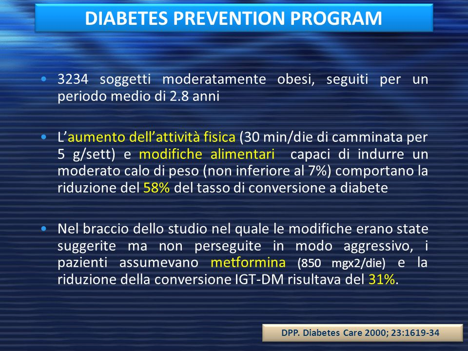DIABETES PREVENTION PROGRAM