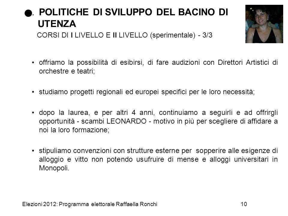 . POLITICHE DI SVILUPPO DEL BACINO DI UTENZA CORSI DI I LIVELLO E II LIVELLO (sperimentale) - 3/3