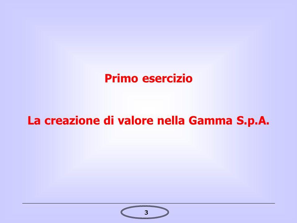 La creazione di valore nella Gamma S.p.A.