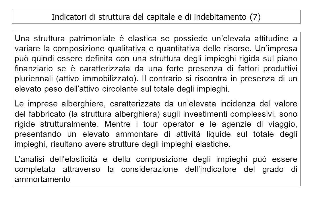 Indicatori di struttura del capitale e di indebitamento (7)