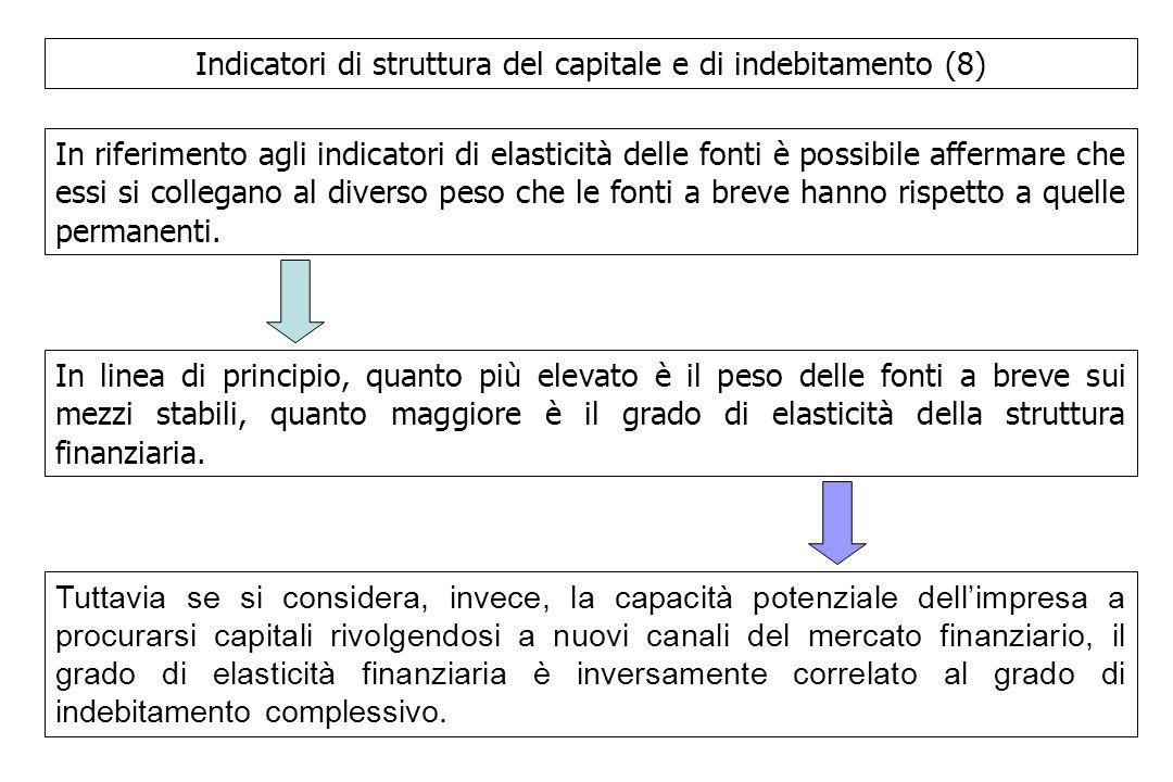 Indicatori di struttura del capitale e di indebitamento (8)