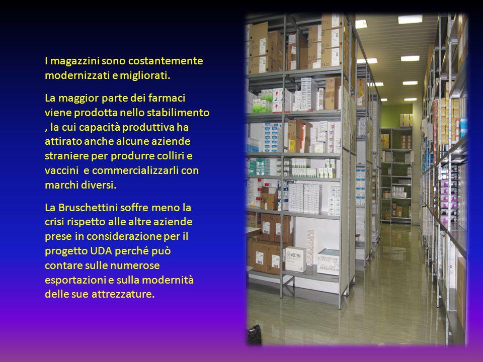 I magazzini sono costantemente modernizzati e migliorati.