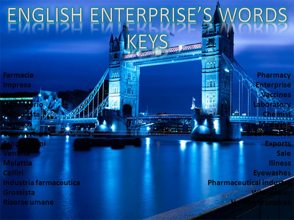 ENGLISH ENTERPRISE'S WORDS KEYS
