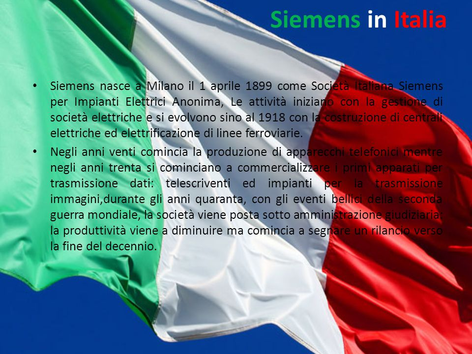 Siemens in Italia