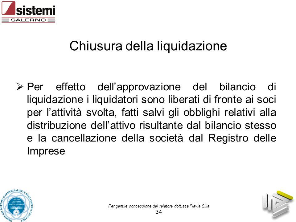 Chiusura della liquidazione