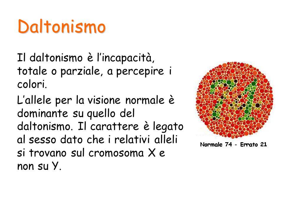 Daltonismo Il daltonismo è l'incapacità, totale o parziale, a percepire i colori.