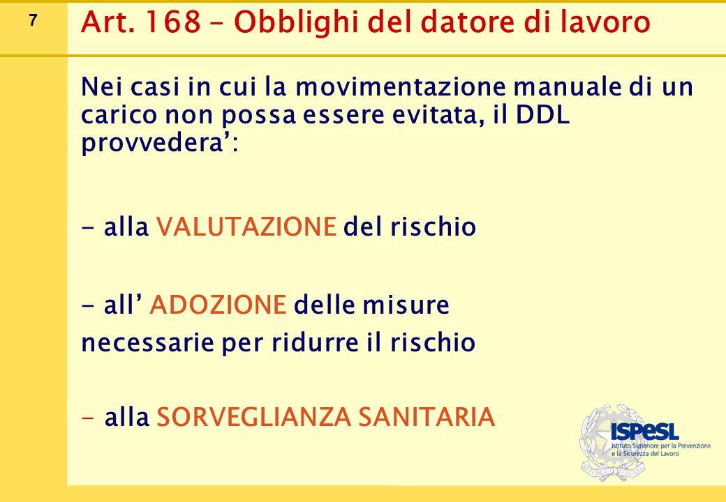 Art. 169 – Informazione e formazione