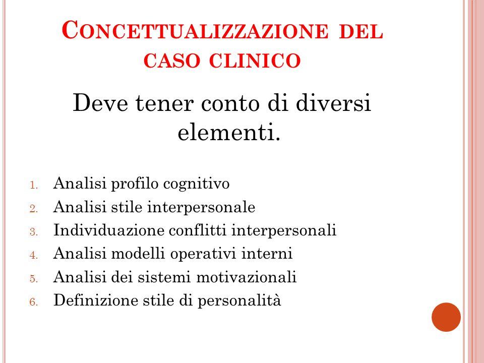 Concettualizzazione del caso clinico
