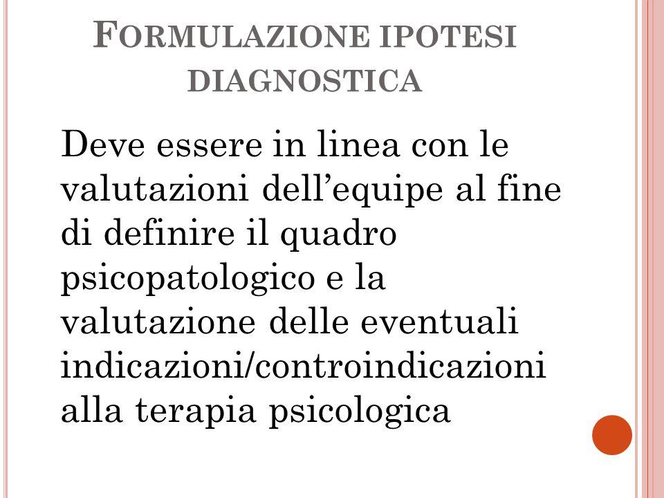 Formulazione ipotesi diagnostica