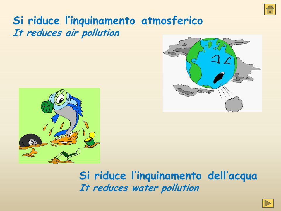 Si riduce l'inquinamento atmosferico