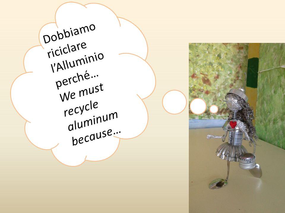 Dobbiamo riciclare l'Alluminio perché… We must recycle aluminum because…