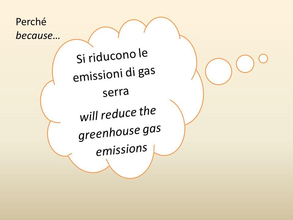 Si riducono le emissioni di gas serra
