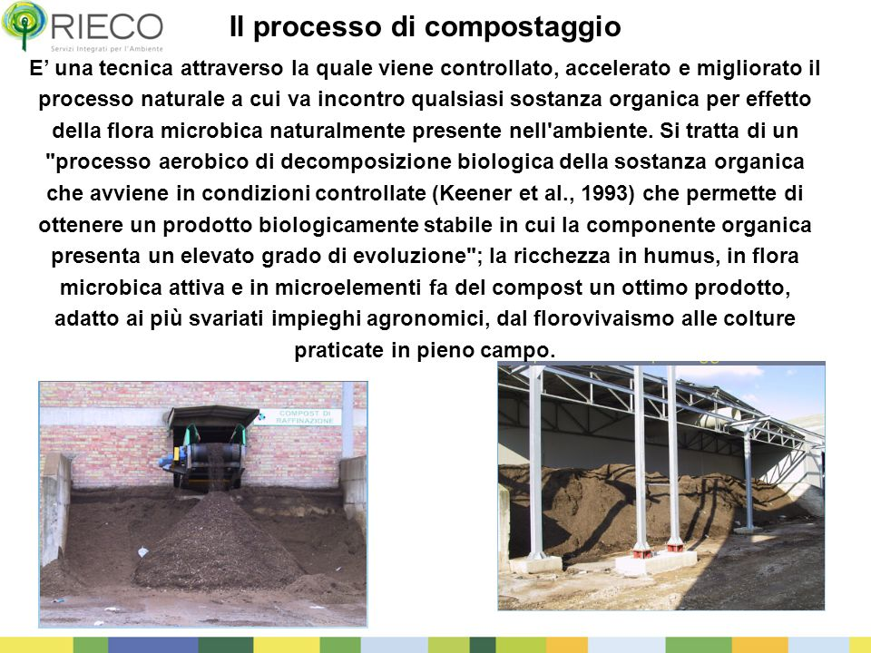 Il processo di compostaggio