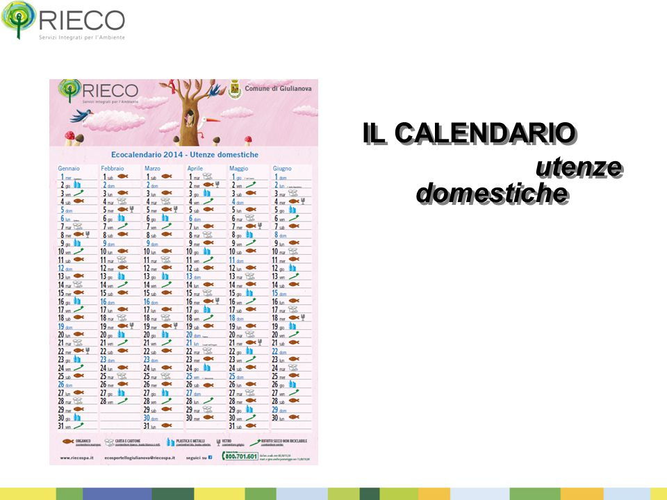 IL CALENDARIO utenze domestiche