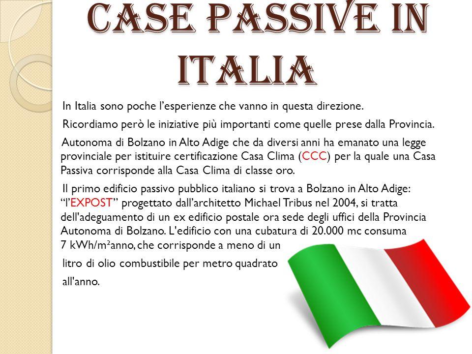 CASE PASSIVE IN ITALIA