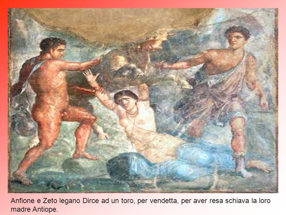 Anfione e Zeto legano Dirce ad un toro, per vendetta, per aver resa schiava la loro madre Antiope.