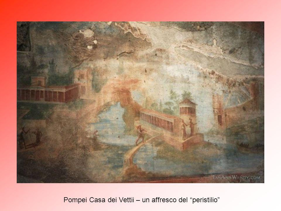 Pompei Casa dei Vettii – un affresco del peristilio