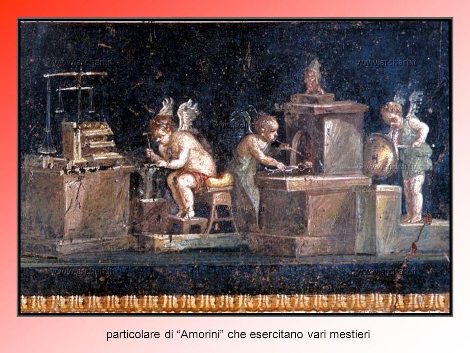 particolare di Amorini che esercitano vari mestieri