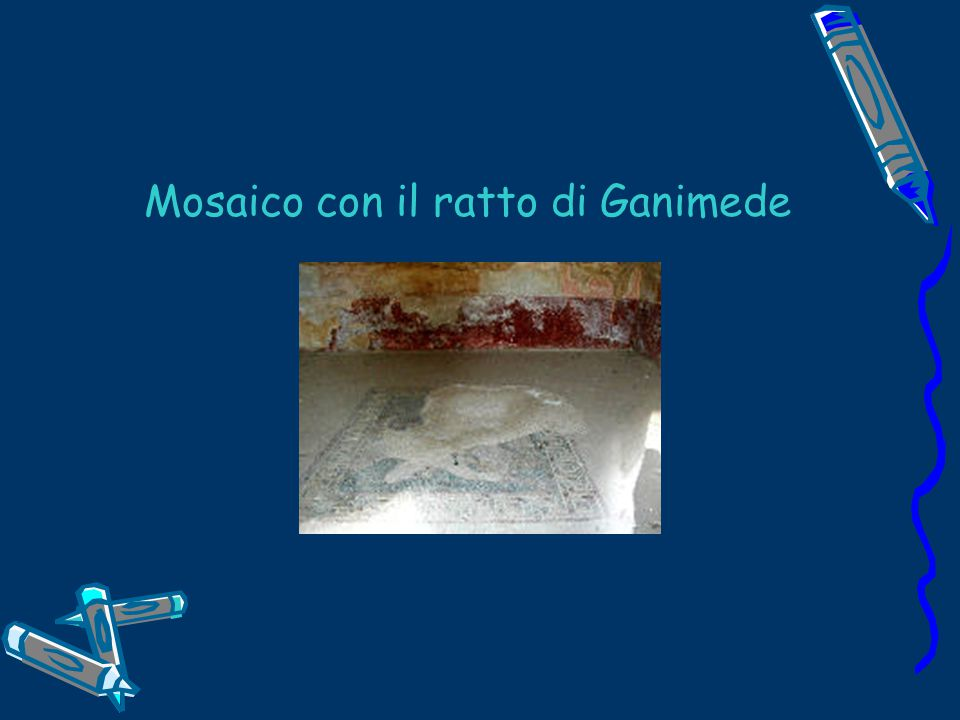 Mosaico con il ratto di Ganimede