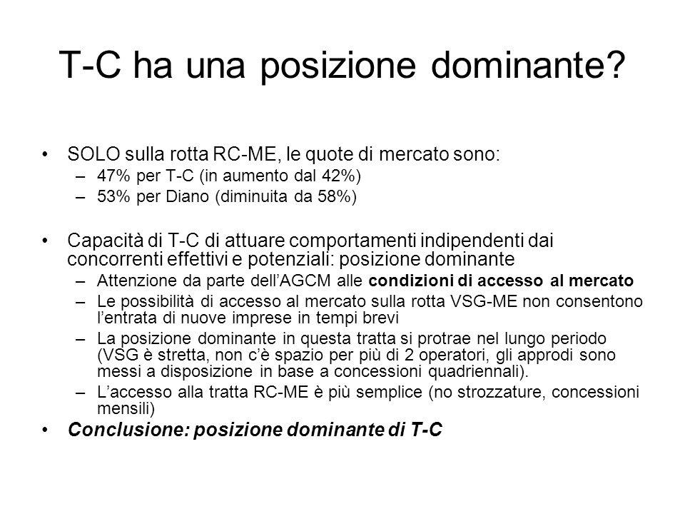 T-C ha una posizione dominante