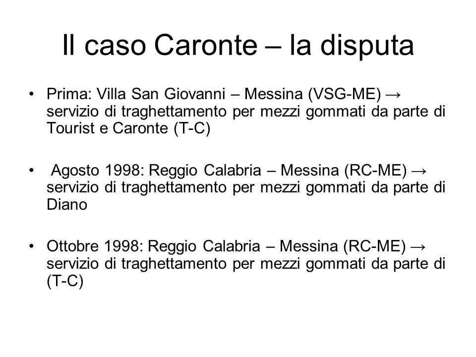 Il caso Caronte – la disputa
