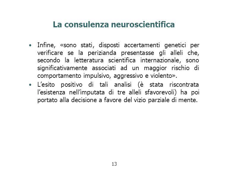 La consulenza neuroscientifica