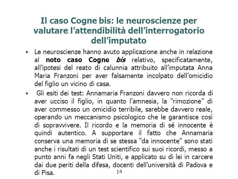 Il caso Cogne bis: le neuroscienze per valutare l'attendibilità dell'interrogatorio dell'imputato