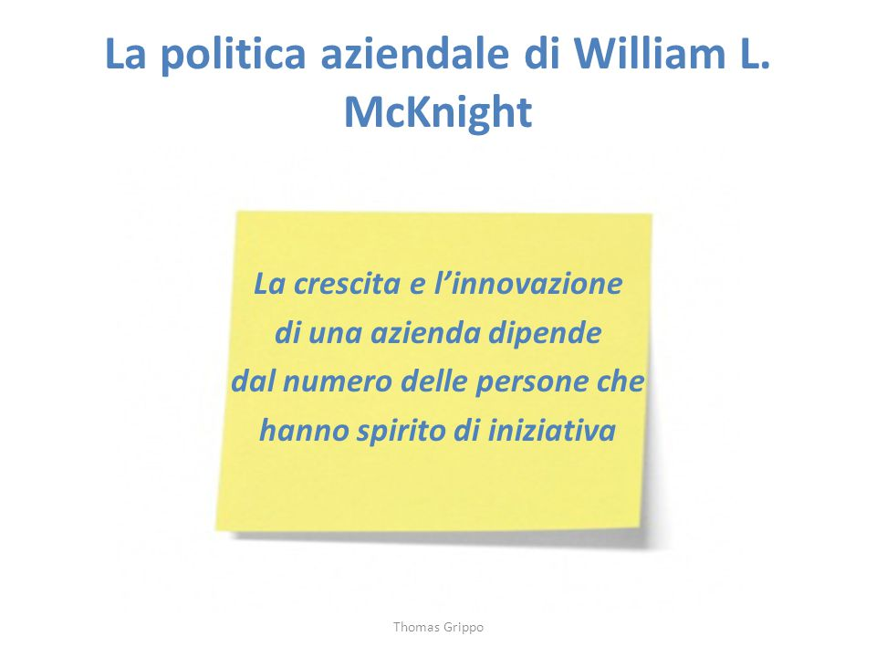 La politica aziendale di William L. McKnight