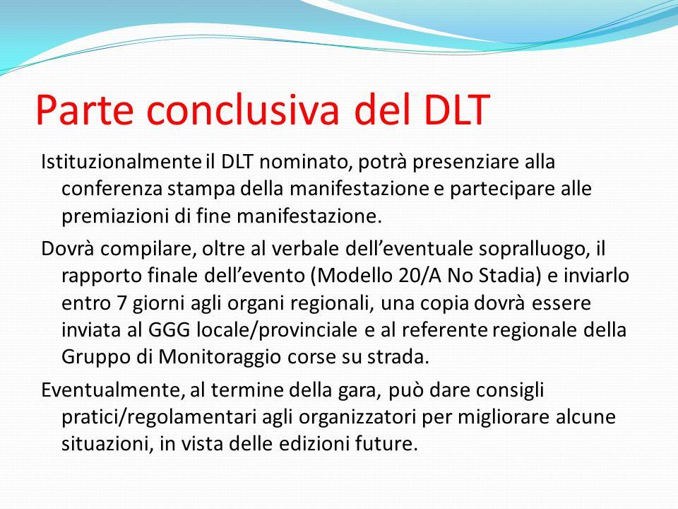 Parte conclusiva del DLT