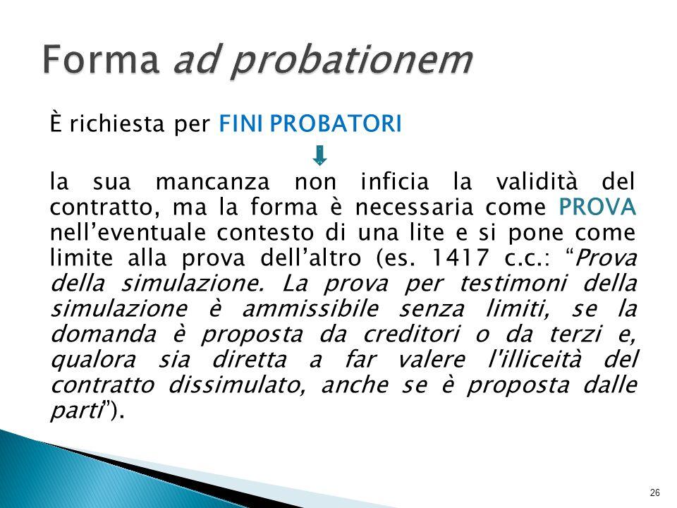 Forma ad probationem