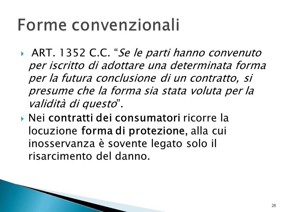Forme convenzionali