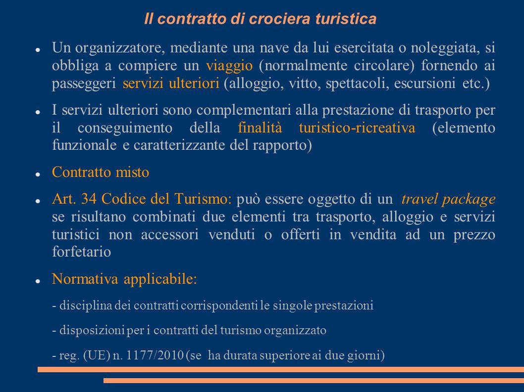 Il contratto di crociera turistica